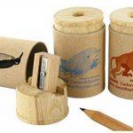 KUM az107.08.19de A Réservoir Taille-crayon öko1à singe, 1pièce, bois/Carton recyclé de la marque KUM image 1 produit
