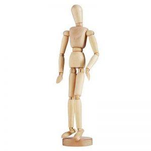 KUNST - Mannequin homme en bois - articulé - Hauteur 30 cm de la marque art image 0 produit