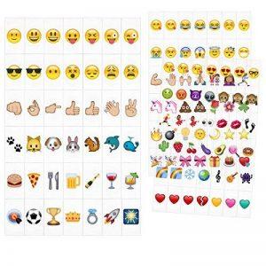 kwmobile Set de 126 emoji - Diapositives emoji couleur pour boîte à lumière cinéma A6 - Complément smiley symboles pour boite lumineuse LED de la marque kwmobile image 0 produit