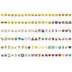 kwmobile Set de 126 emoji - Diapositives emoji couleur pour boîte à lumière cinéma A6 - Complément smiley symboles pour boite lumineuse LED de la marque kwmobile image 2 produit