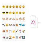 kwmobile Set de 126 emoji - Diapositives emoji couleur pour boîte à lumière cinéma A6 - Complément smiley symboles pour boite lumineuse LED de la marque kwmobile image 3 produit