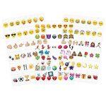 kwmobile Set de 126 emoji - Diapositives emoji couleur pour boîte à lumière cinéma A6 - Complément smiley symboles pour boite lumineuse LED de la marque kwmobile image 4 produit