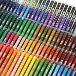 Laconile 160 Crayons de couleur gras, couleurs vives, pré-taillés, lot de crayons de couleur pour livres de coloriage pour adultes, dessins artistiques, croquis, loisirs créatifs de la marque Laconile image 3 produit
