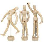 Larcele Articulations Humaines en Bois Mannequins Modèle de Dessin MRMX-01 (15.3cm) de la marque Larcele image 3 produit