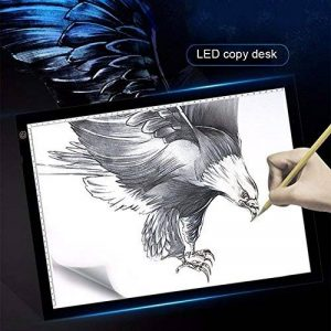 LED Drawing Sketching Board, A3 / A4 Super Thin Light Pad Tracing Copier Light Box avec 3 niveaux de luminosité réglable Touch Dimmer Lightbox pour le dessin, l'architecture, l'application d'animation de la marque BEECOCO image 0 produit
