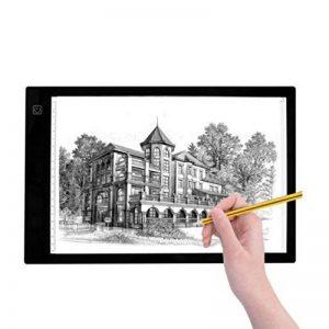 LEDGLE 3W Tablette Lumineuse LED A4 avec 3 Niveaux de Luminosité Réglable, 4.7mm Ultra-Mince Dessin Lumineuse Pad USB, Cadeau Idéal pour Artistes, Designers, Photographes de la marque LEDGLE image 0 produit
