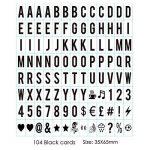 Lettres nombres symboles et emojis Signe du cinéma pour A4 Lightbox Spécial FestivalDécoration 104 Noir, 104 Coloré Lettres, nombres, 85 emoji Signe Par Freeas de la marque Freeas image 1 produit