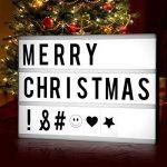Light Box, StillCool Cinéma Boîte A4 LED Cinema Lumineuse avec 96 Lettres, 85 Emojis Coloré Légère Boite, Enseigne Lumineuse pour Décorer Anniversaire/Famille/Boutique de la marque StillCool image 1 produit
