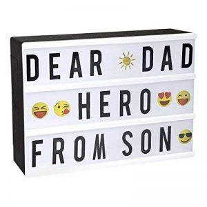 Light Box, StillCool Cinéma Boîte A4 LED Cinema Lumineuse avec 96 Lettres, 85 Emojis Coloré Légère Boite, Enseigne Lumineuse pour Décorer Anniversaire/Famille/Boutique de la marque StillCool image 0 produit