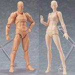lzndeal Set de Body Chan & Kun Doll mâle femelle DX Tamashii Nations S.H. Modèle d'action mobile en PVC avec Assesoires: Pistolet, Épée, Main, Version 2 de la marque lzndeal image 2 produit