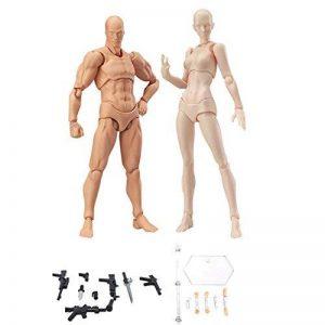lzndeal Set de Body Chan & Kun Doll mâle femelle DX Tamashii Nations S.H. Modèle d'action mobile en PVC avec Assesoires: Pistolet, Épée, Main, Version 2 de la marque lzndeal image 0 produit