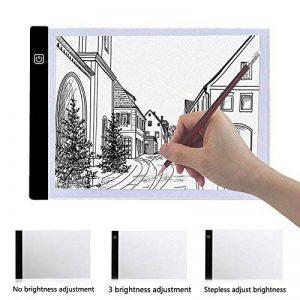 lzndeal Tablette Lumineuse, A4 LED Tablette Lumineuse Professionnelle Plat Pour Tatouage Artisanat Art Tracing Croquis Design Pochoir Décalquer de la marque lzndeal image 0 produit