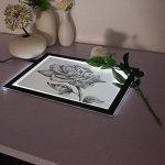 M.Way Tablette Lumineuse A4 LED Luminosité Réglable Super Mince Photo Dessin Tablette pour Tatouage Esquisse Architecture Calligraphie Artisanat de la marque M.Way image 1 produit