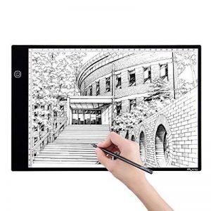 M.Way Tablette Lumineuse A4 LED Luminosité Réglable Super Mince Photo Dessin Tablette pour Tatouage Esquisse Architecture Calligraphie Artisanat de la marque M.Way image 0 produit