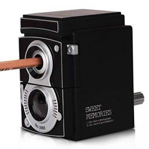 Machine à Taille-Crayon, ECVISION Taille-crayon manivelle pour Pointes Jusque 12 mm Créations en Forme de Appareil Photo de la marque ECVISION image 0 produit
