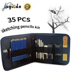 Magicdo® - Lot de 35 pièces pour croquis et dessin, avec trousse - Comprend crayons, gommes, fusains, crayons graphite, bâtons, Art, fournitures pour croquis et dessins de la marque Magicdo® image 0 produit