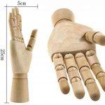 """Main gauche de mannequin en Bois 10"""" Modèle Main Articulé Mannequin d'une Main Sculpture de la marque Micro Trader image 1 produit"""