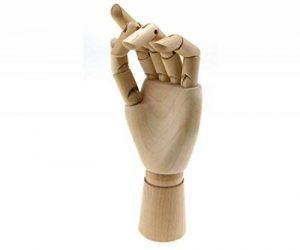 """Main gauche de mannequin en Bois 10"""" Modèle Main Articulé Mannequin d'une Main Sculpture de la marque Micro Trader image 0 produit"""