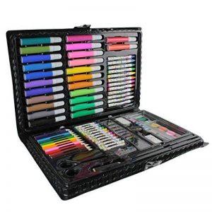 Malette de coloriage 86 pièces feutres crayons de couleurs pastels peintures à l'eau pinceau peinture ... Idéal loisirs créatifs Créateur de Génie de la marque Créateur de génie image 0 produit