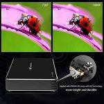Mini Vidéoprojecteur, Tenswall Portable Projecteur Wifi DLP Projecteur 100 Ansi Lumens, FHD 1080P Pico Projecteur, Ajustement Automatique des Trapèzes,Smart Home Cinéma/Vidéo TV/Jeux de la marque Tenswall image 1 produit