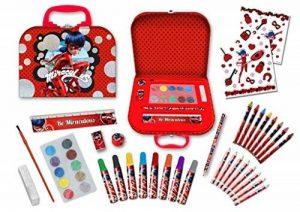 Miraculous Set d'écriture - Set dessin avec crayons de couleur, tampon et accessoires, 52pièces de la marque Brigamo image 0 produit