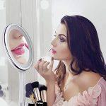 【Miroir LED Intelligent+Boîte de Rangement+Miroir de Poche】LiSmile Miroir Maquillage Lumière de Luminosité Réglable avec Arrêt Automatique/Lumineux à 10 Grossissant Rond Orientable à 360 ° de la marque LiSmile image 5 produit