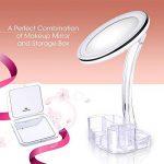 【Miroir LED Intelligent+Boîte de Rangement+Miroir de Poche】LiSmile Miroir Maquillage Lumière de Luminosité Réglable avec Arrêt Automatique/Lumineux à 10 Grossissant Rond Orientable à 360 ° de la marque LiSmile image 1 produit