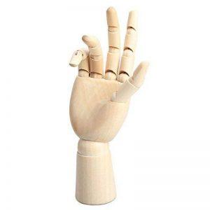 Modele de main en bois - TOOGOO(R)18 * 6cm Modele articule de main droite en bois mannequin cadeau d'art alternatives de la marque TOOGOO image 0 produit