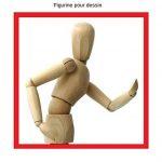 Modèle de dessin - Figurine pour dessin - Mannequin - En bois - 20cm … de la marque ESPACE BEAUX ARTS image 4 produit
