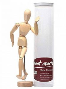MONT MARTE Mannequin homme 30 cm dans une boite en acétate – Poupée corps, marionnette en bois, mannequin. de la marque Mont Marte image 0 produit