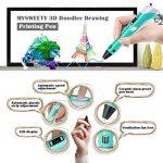 MYSWEETY 3D Pen Stylo 3D Doodle DIY Scribbler Imprimante avec écran LCD écran + 3M PLA Filament+ support de sécurité Impression dessin modèle Making Arts Crafts Dessin compatible avec ABS/PLA de la marque MYSWEETY image 4 produit