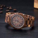 NOC Montre en bois élégante et tendance 100% bois de santal naturel de la marque HYK image 3 produit