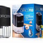 OfficePro Taille-crayon électrique, lame en acier hélicoïdales Aiguise les Crayons Y Compris Couleur, fonction d'arrêt automatique pour la sécurité, piles incluses de la marque Officepro image 1 produit