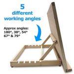 Pablo- Station de travail A3/ chevalet de table ou de bureau ajustable en bois, A3 de la marque Pablo image 2 produit