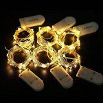 [Packs de 6] KINGTOP Guirlandes Lumineuses à Piles Étanche Argent Fil 2m avec 20LEDs Blanc Chaud Lumière LED pour Noël, Fêtes, Mariages, Jardin, Terrasse, Pelouse Maison Décoration [Classe Énergétique A+] de la marque KINGTOP image 5 produit