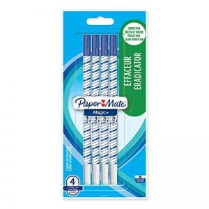 Papermate Magic + Effaceur Pointe Fine Bleu, Lot de 4 de la marque Papermate image 0 produit