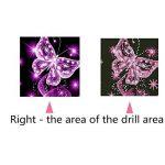 Papillon Rose 5d Diamant kit Peinture par numéro complète perceuse carré Broderie au point de croix DIY Art Craft Home Décor mural (25cm x 25cm) de la marque WesGen image 1 produit