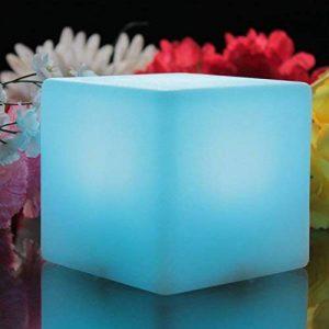 PK Green Cube LED Lumineux Rechargeable 10cm - Lumière Ambiance Multicolore, Lampe de Chevet Veilleuse Enfant RGB de la marque PK Green image 0 produit