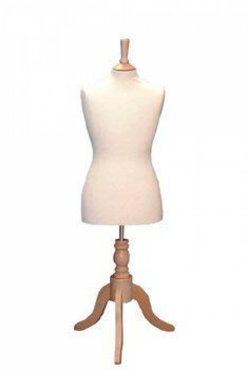 The Shopfitting Shop Mannequin de vitrine//buste de couture sur tr/épied en bois Homme