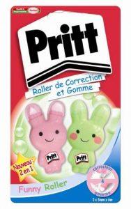 Pritt Funny Lot de 2 Rollers de correction + Gomme 5 mm de la marque Pritt image 0 produit