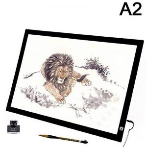 Qiulv A2 Led Light Box Tracer Luminosité De Gradation Pad Light Box Prévenir La Fatigue Oculaire Contrôle Avec Adaptateur Pour Les Artistes, Dessin, Esquisser, Animation, (27.5X19.6Inch) de la marque Qiulv image 0 produit