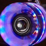 Relaxdays Skateboard Mini Cruiser roues lumineuses LED fluo enfant 22 pouces ABEC 7, rose de la marque Relaxdays image 2 produit