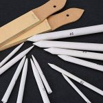 ROSENICE 12 Pièces Crayon de Souche en Papier avec 2 Pièces Papier abrasif Taille-crayon pour Dessin D'esquisse Outil de la marque ROSENICE image 2 produit