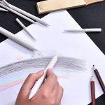 ROSENICE 12 Pièces Crayon de Souche en Papier avec 2 Pièces Papier abrasif Taille-crayon pour Dessin D'esquisse Outil de la marque ROSENICE image 3 produit