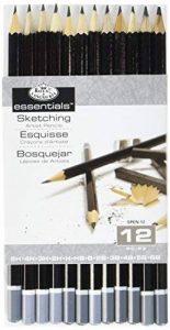 Royal & Langnickel SPEN-12 Pack de 12 Crayons à dessin (5H, 4H, 3H, 2H, H, HB, B, 2B, 3B, 4B, 5B, 6B) de la marque Royal & Langnickel image 0 produit