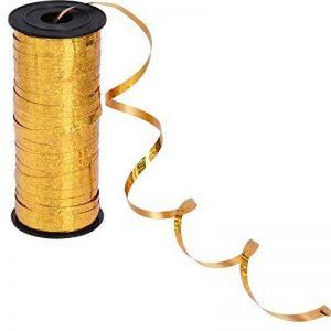 Ruban Ondulé Ruban de Ballon d'Or pour Décoration de Fêtes et Festivals, Artisanat et Emballage de Cadeaux, 5 mm, 100 Verges de la marque Outus image 0 produit