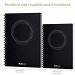 """RUBbook Cahier 3.0, Effaçable, Réutilisable à Spirale Ordinateur Portable Carnet, inclure un stylo effaçable, inclure une gomme à effacer, A5-5.8""""x8.2""""(Noir) de la marque RUBbook image 1 produit"""
