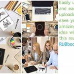 """RUBbook Cahier 3.0, Effaçable, Réutilisable à Spirale Ordinateur Portable Carnet, inclure un stylo effaçable, inclure une gomme à effacer, A5-5.8""""x8.2""""(Noir) de la marque RUBbook image 4 produit"""