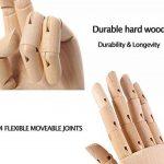Scoolr 30,5cm/30cm en bois à corps Artiste Modèle articulé Mannequin Flexible en bois doigts Main RCP pour art Dessin Right Hand de la marque Scoolr image 3 produit