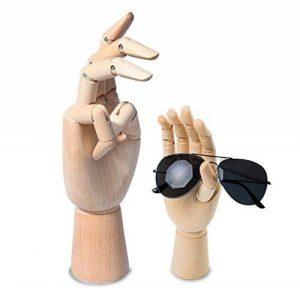 Scoolr Articulé Bois Gauche/Droite main Hommes Femmes Mannequin main en bois pour Art Dessin Figure Modèle Manikin 18cm. de la marque Scoolr image 0 produit